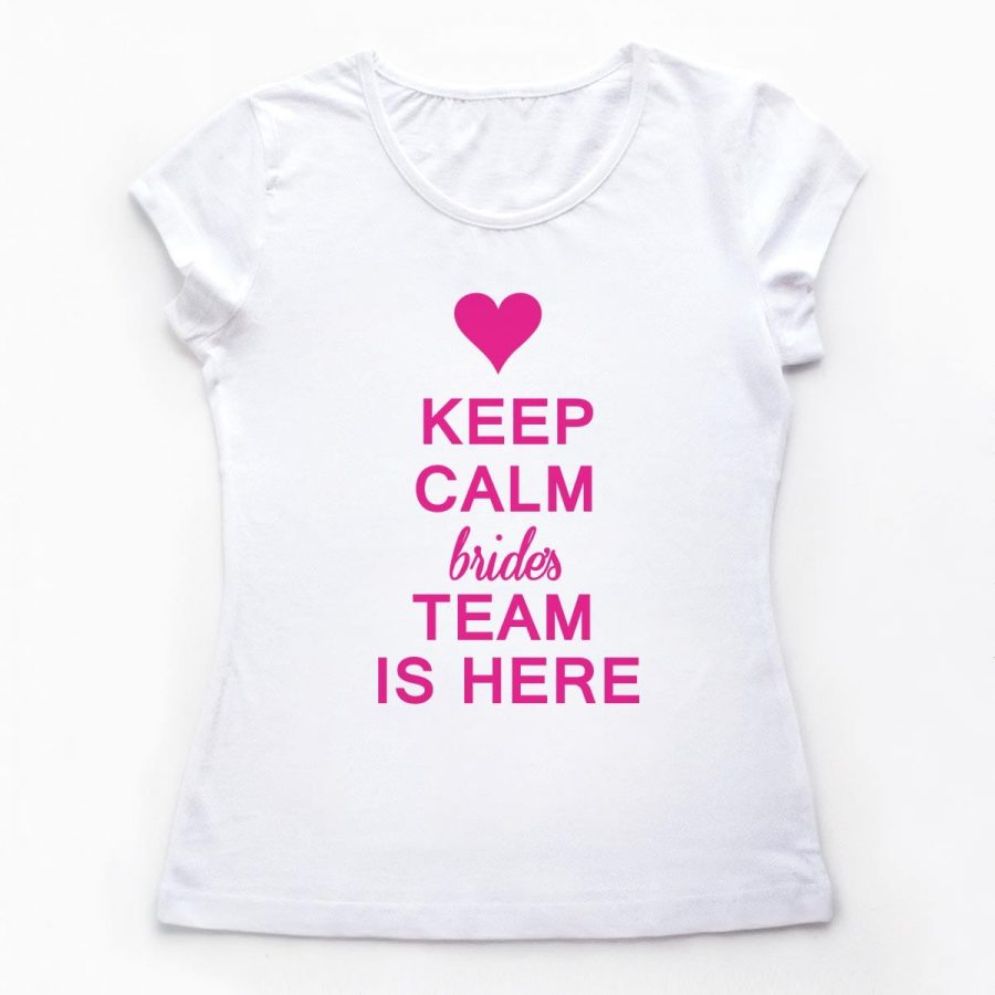 Tricouri petrecerea burlacitelor Keep Calm - Bride's Team 1