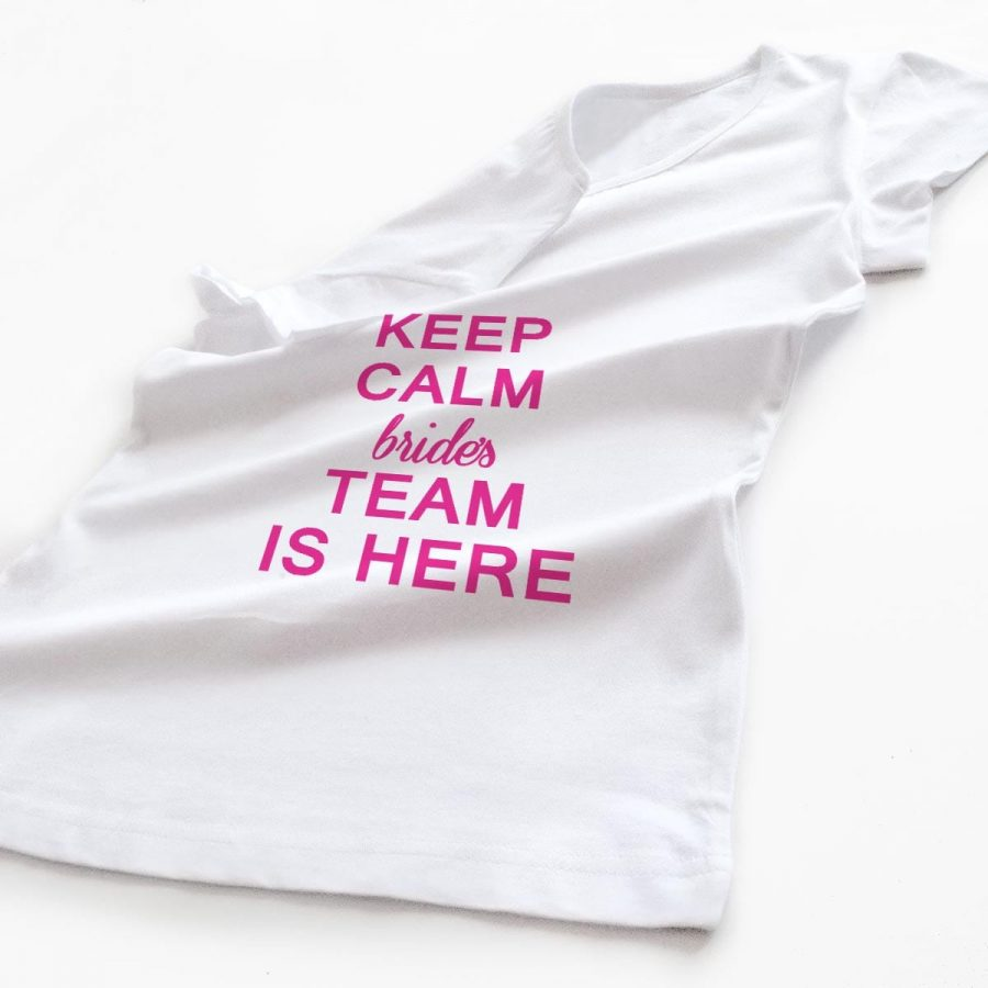 Tricouri petrecerea burlacitelor burlacitelor Keep Calm - Bride's Team 3