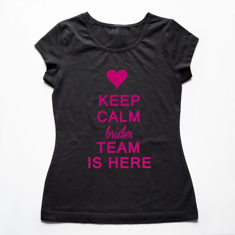 Tricouri petrecerea burlacitelor Keep Calm - Bride's Team 5
