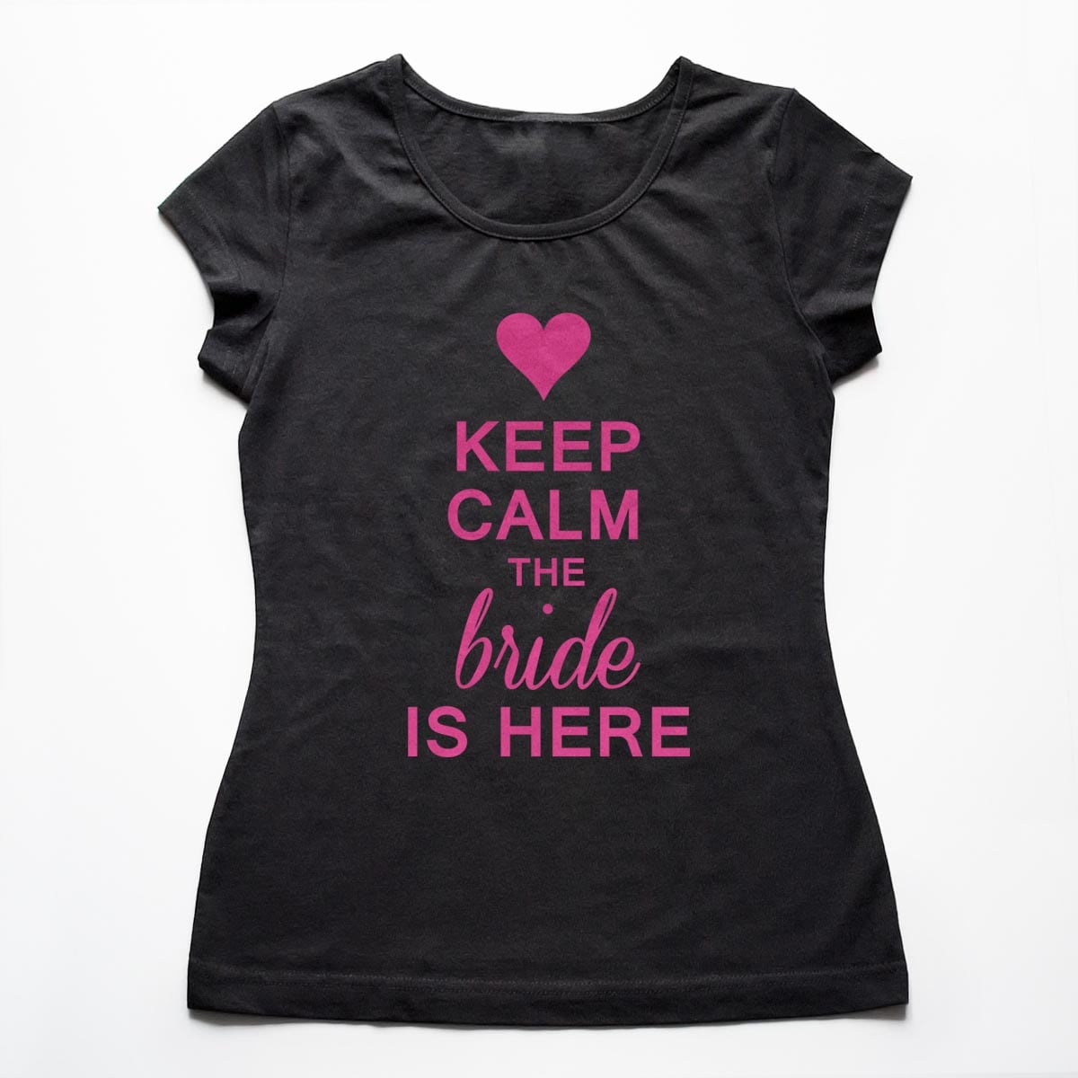 Tricouri petrecerea burlacitelor Keep calm - The Bride is here 5