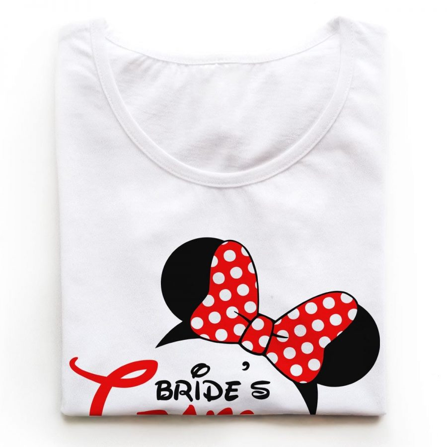 Tricouri petrecerea burlacitelor Minnie Bride Team 2