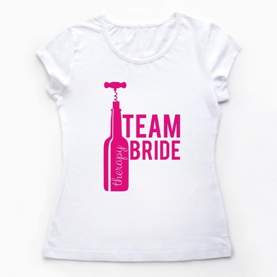 Tricouri petrecerea burlacitelor Team Bride and Good Wine 1