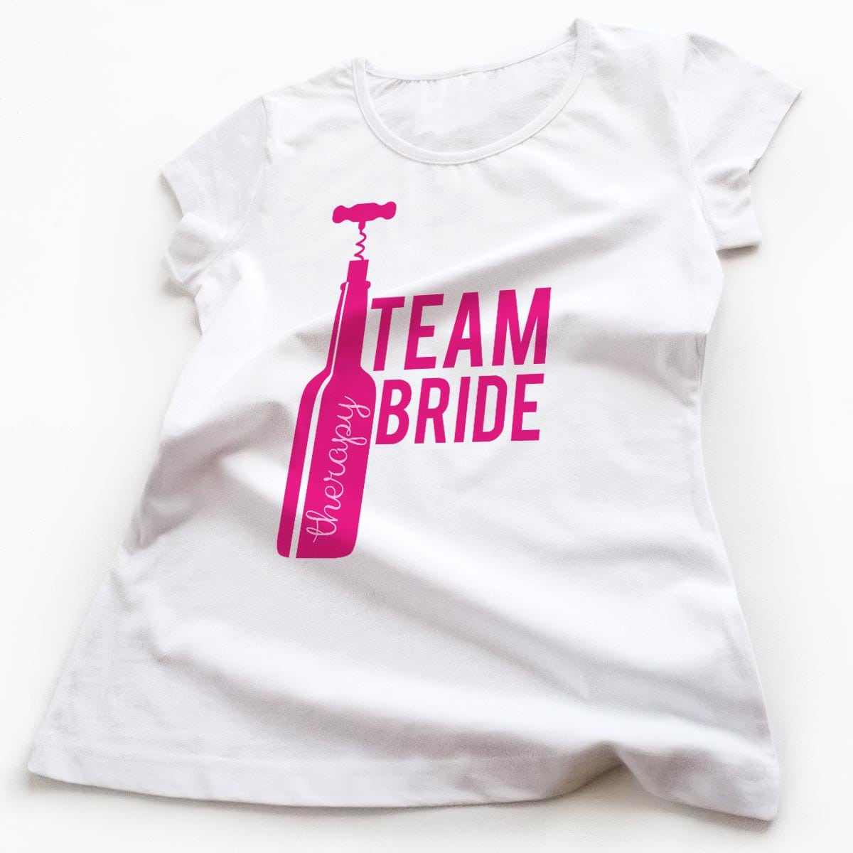 Tricouri petrecerea burlacitelor Team Bride and Good Wine 3
