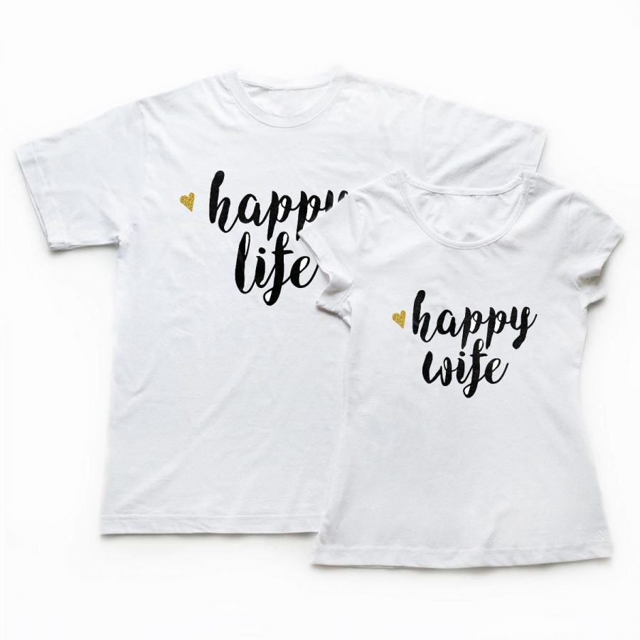 Tricouri cupluri - Happy Life 1