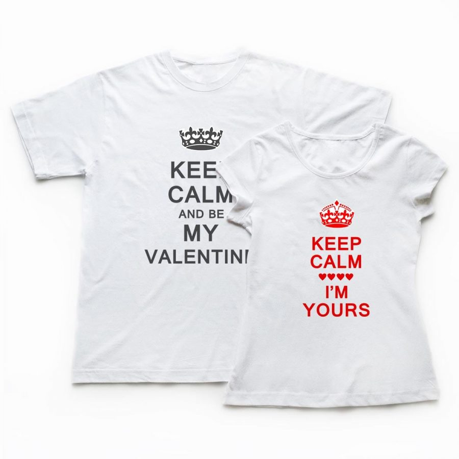Tricouri cupluri - Keep Calm Love 1