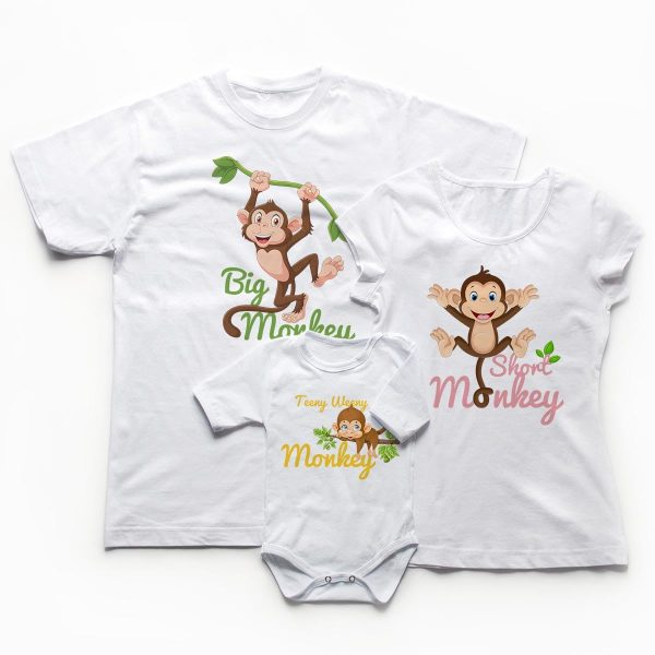 Tricouri familie - Monkey Family 1
