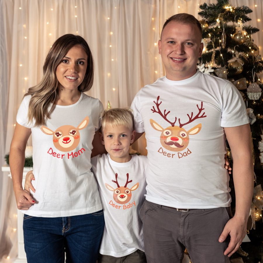 Tricouri personalizate familie - Deer Family 13