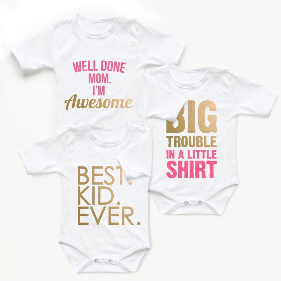 Body copii Set body BIG Trouble Gold - fetita 1