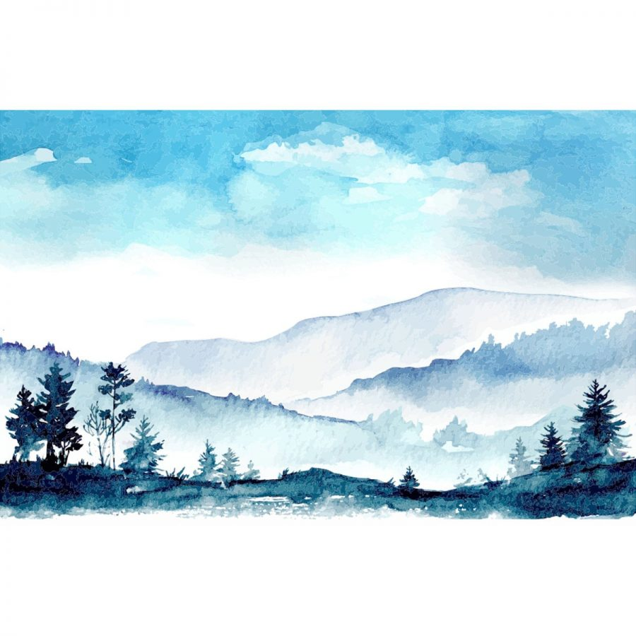 Fototapet Watercolor Panorama 2