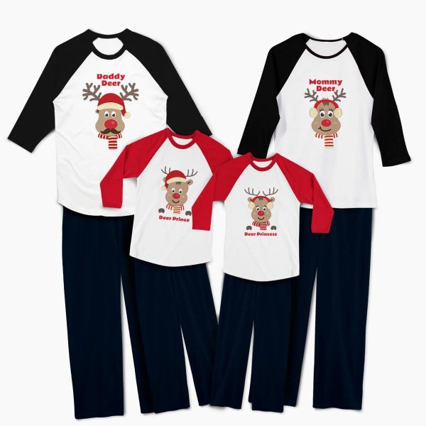 Pijamale personalizate familie Red Nose Family 1b