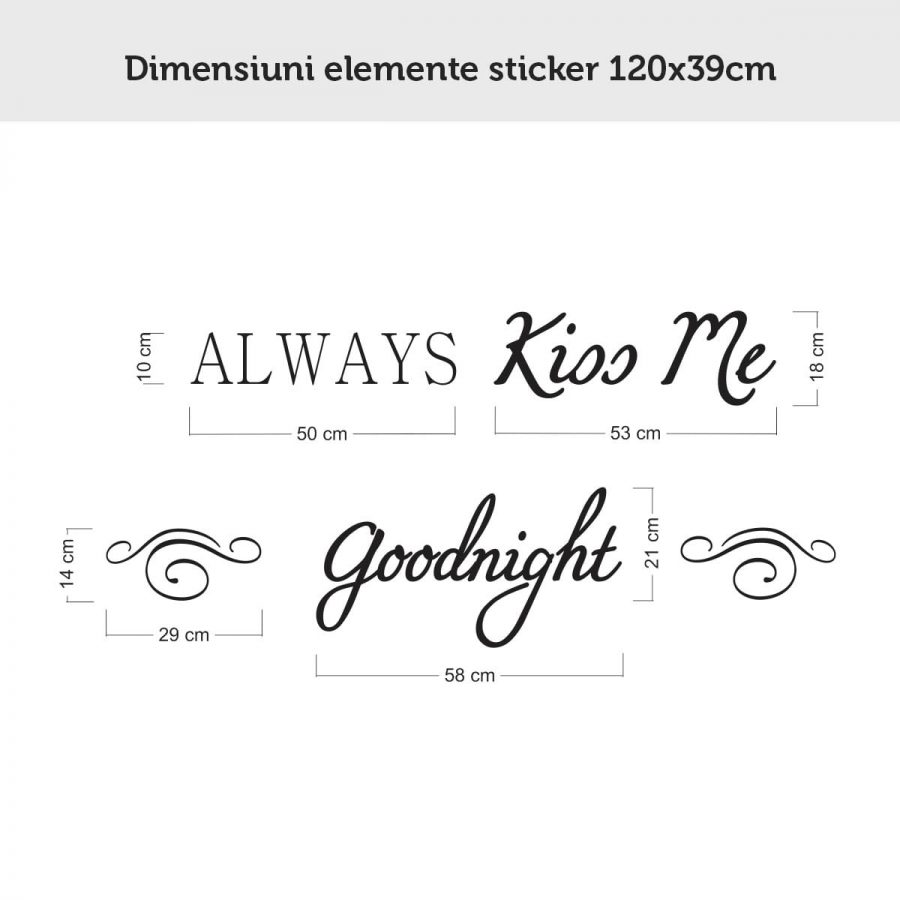 Sticker perete Always Kiss Me Goodnight 4