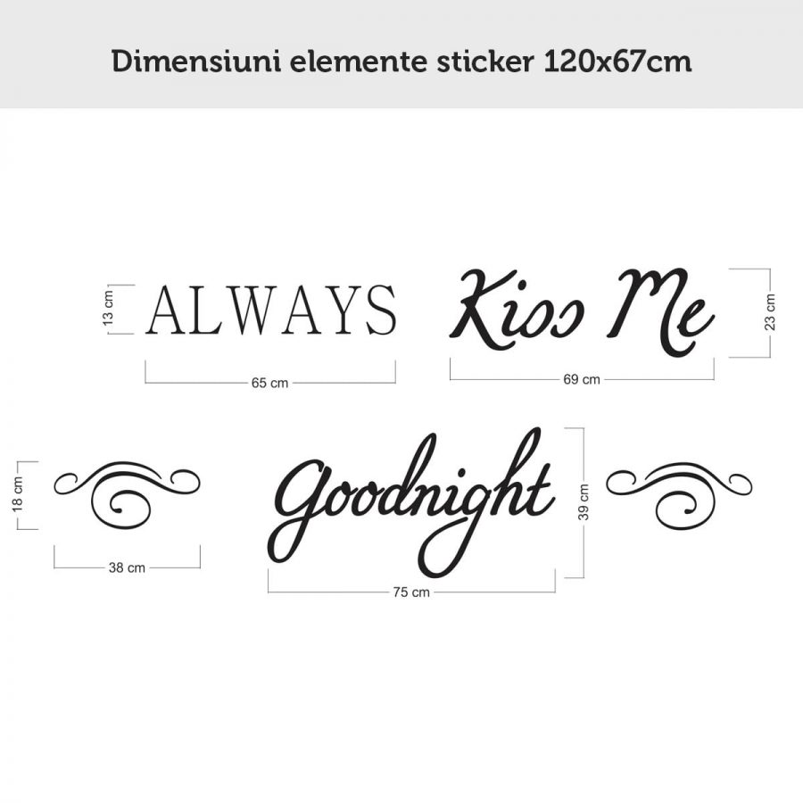 Sticker perete Always Kiss Me Goodnight 5