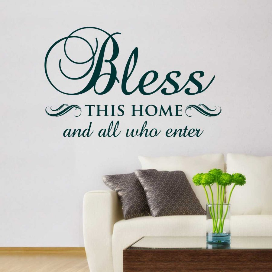 Sticker perete Bless this home 1