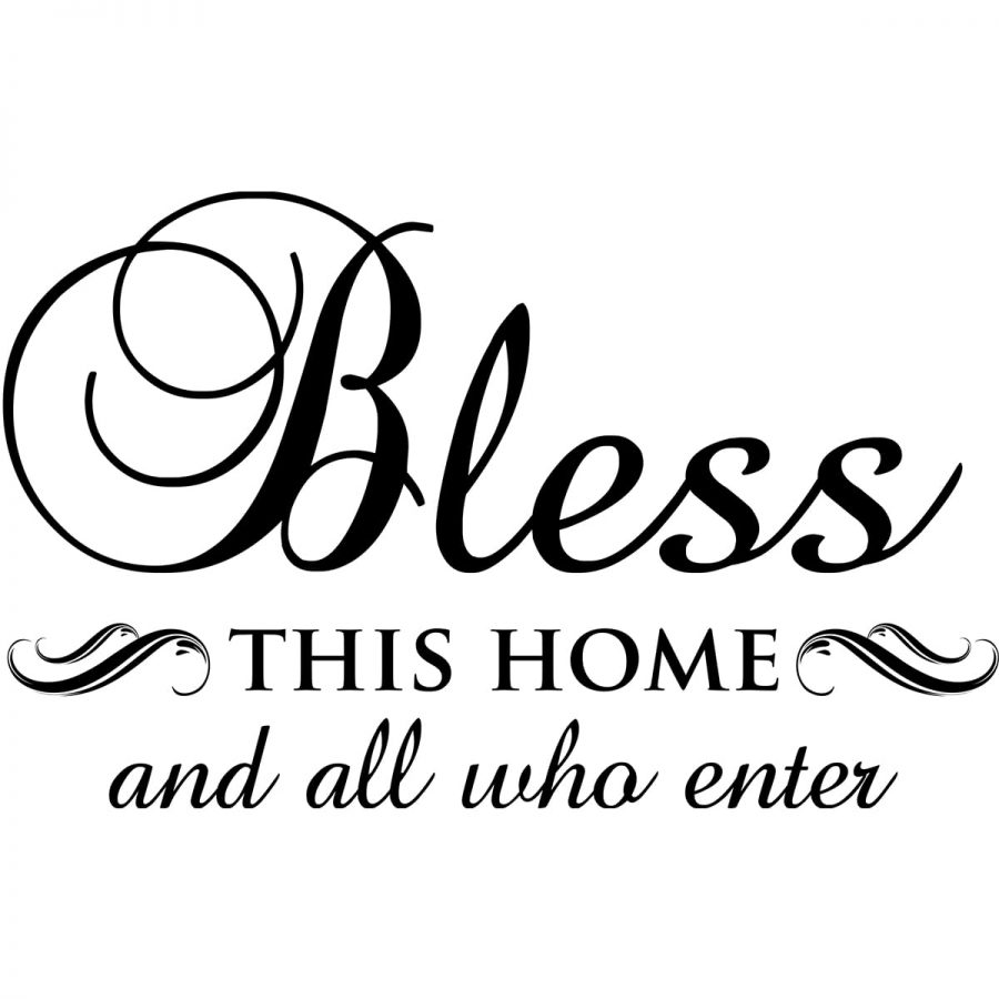 Sticker perete Bless this home 2