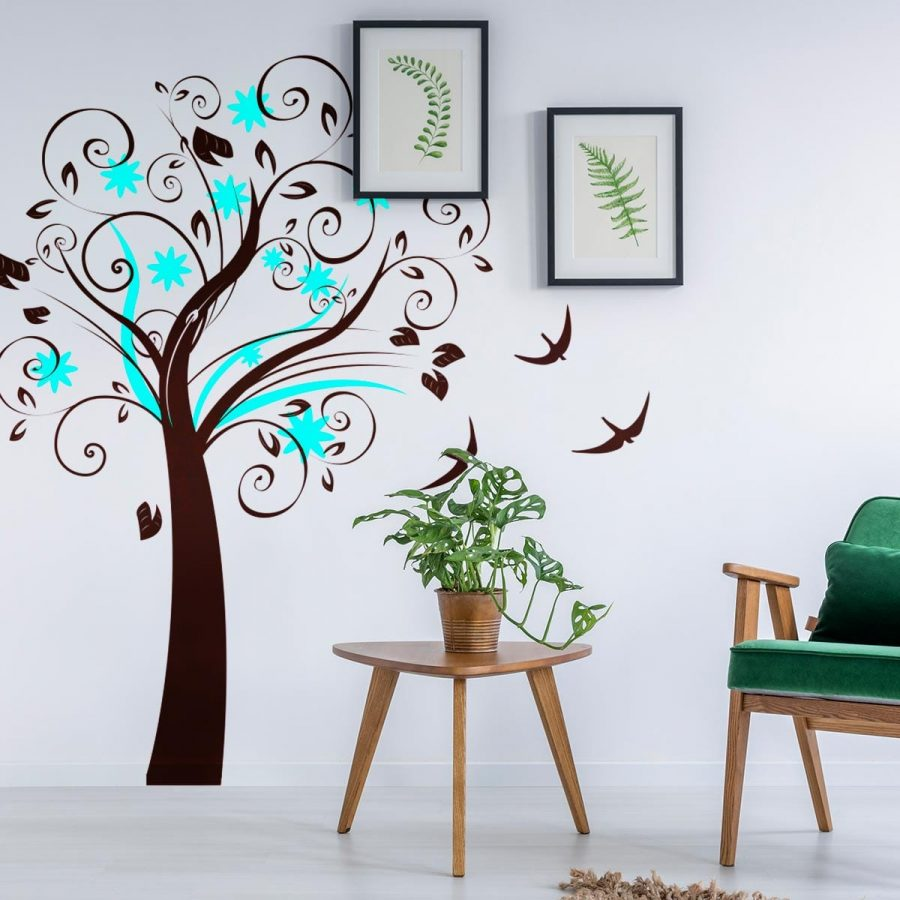 Sticker perete Blue Tree 1