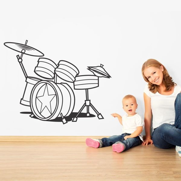 Sticker perete Drums 1
