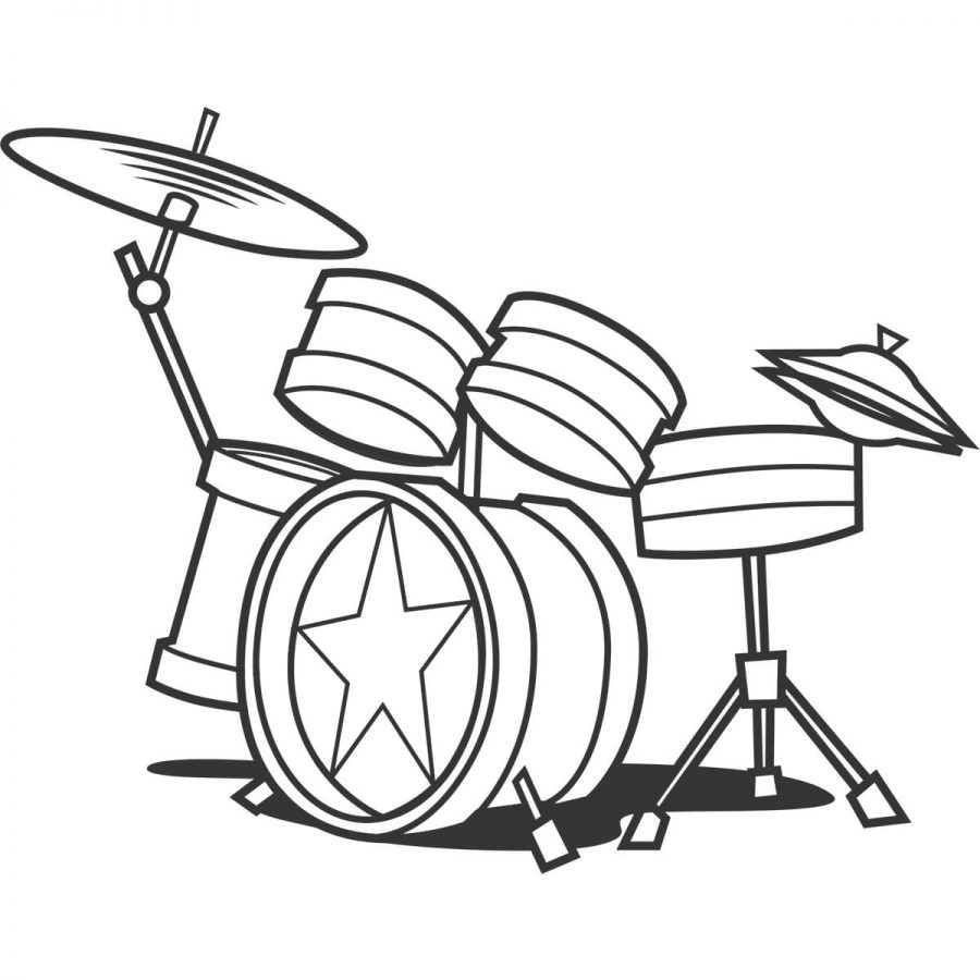 Sticker perete Drums 2