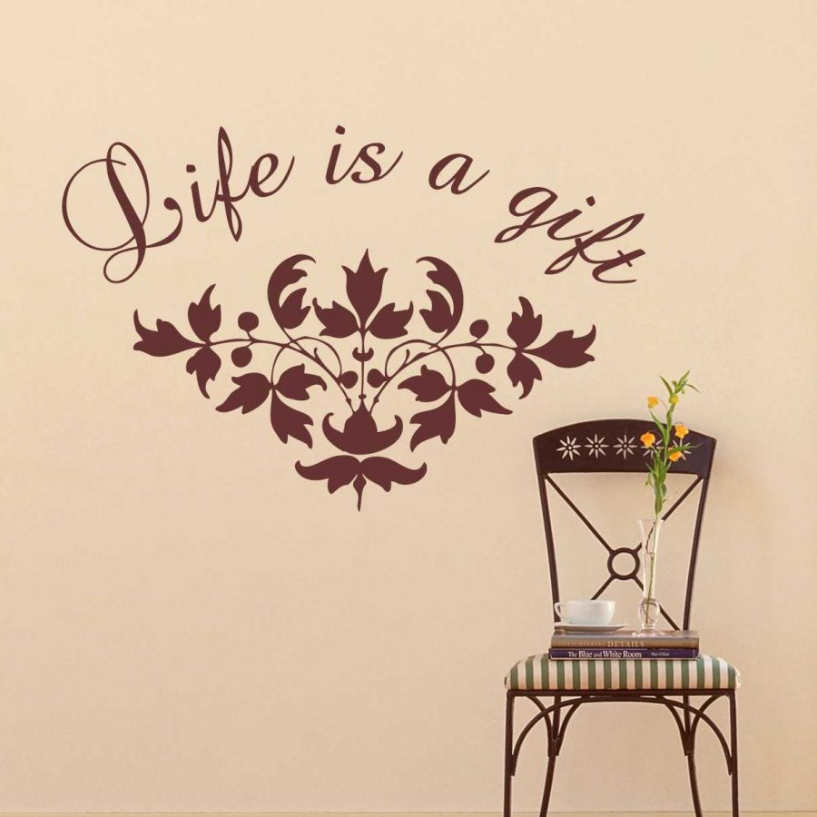Sticker perete Life is a gift 1