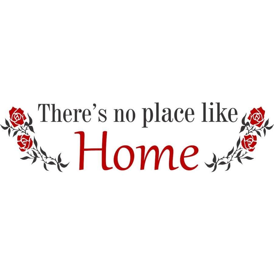 Sticker perete No place like home 2