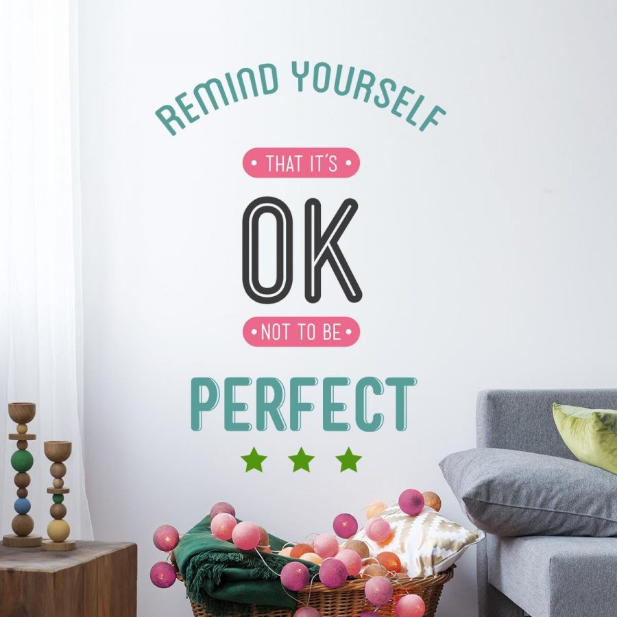 Sticker perete Nobody's Perfect 1