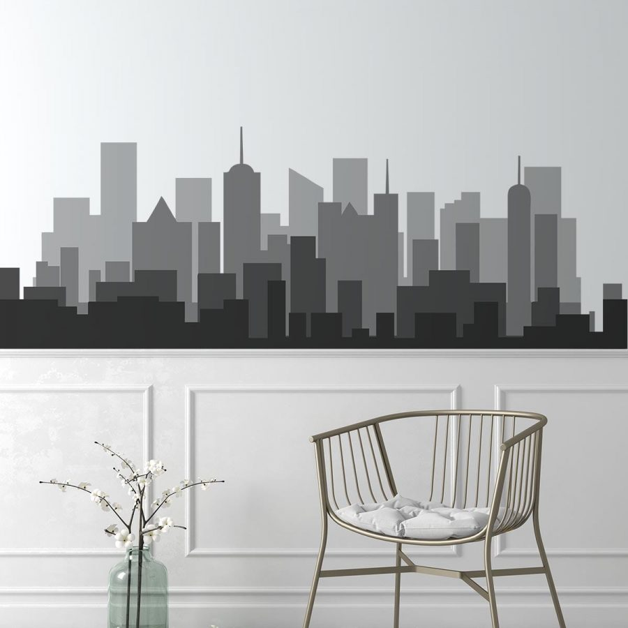 Sticker perete Shades of Grey Skyline 1