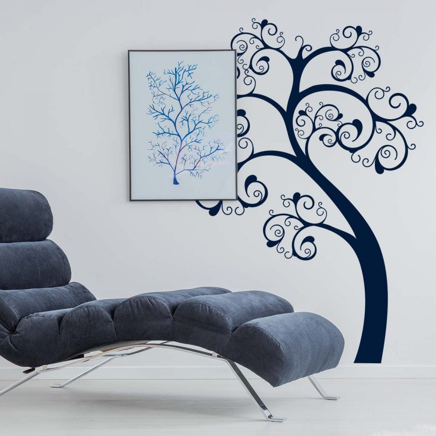 Sticker perete Swirl Tree 1