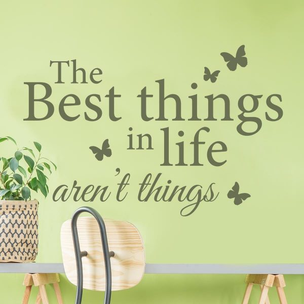 Sticker perete The Best Things in Life 1