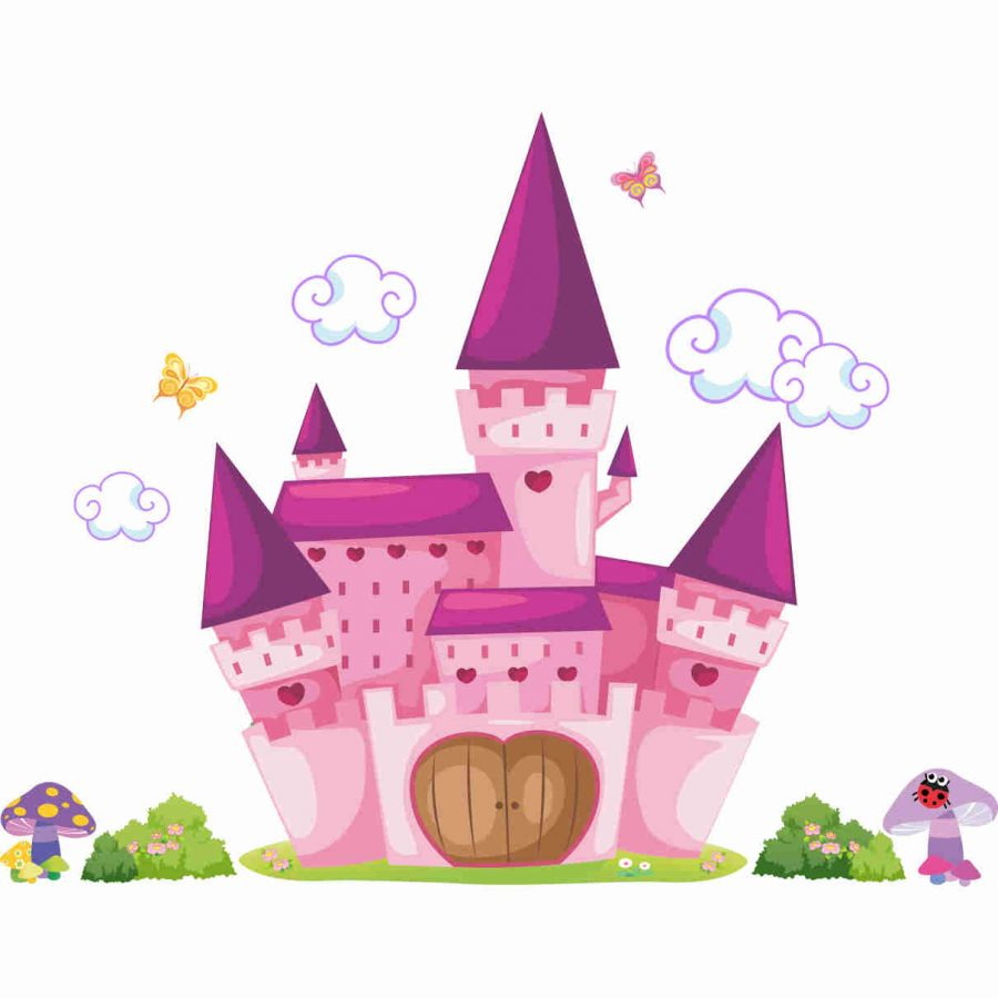 Stickere perete copii Castel