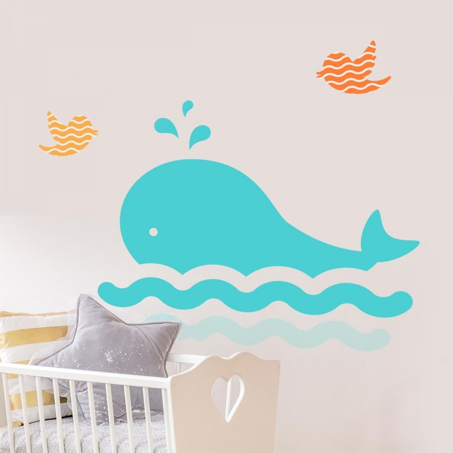 Stickere perete copii Cute Whale 1