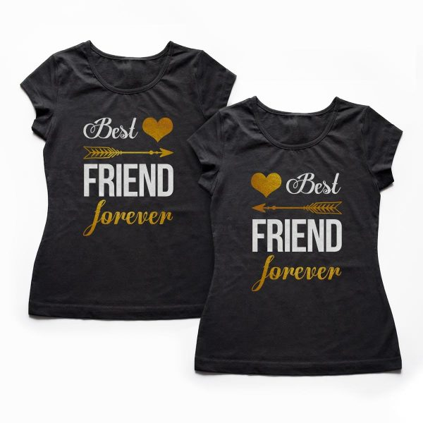 Tricouri BFF - Best Friends Forever - Gold 1