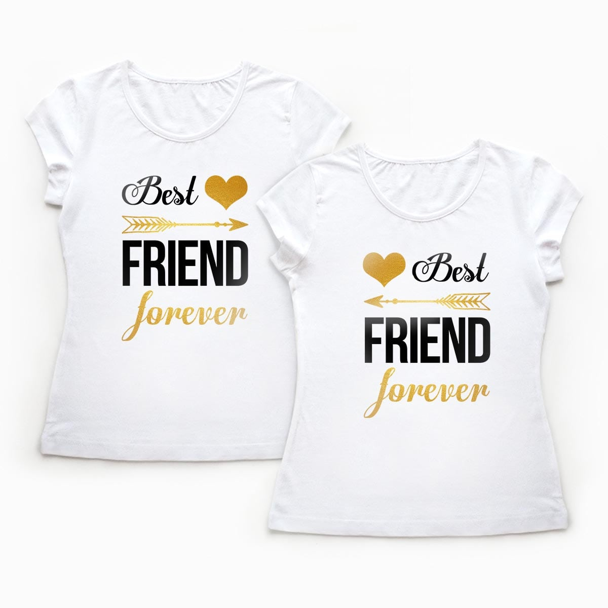 Tricouri BFF - Best Friends Forever - Gold