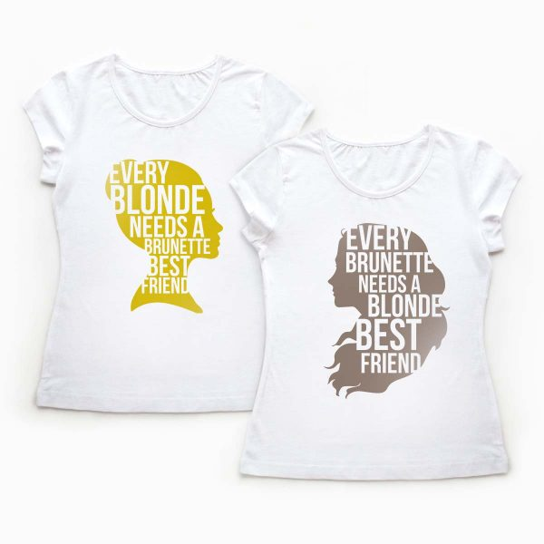 Tricouri BFF Blonde and Brunette