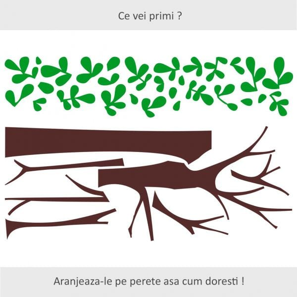 Sticker perete Green Tree Decor