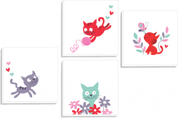 Set tablouri canvas Kittens