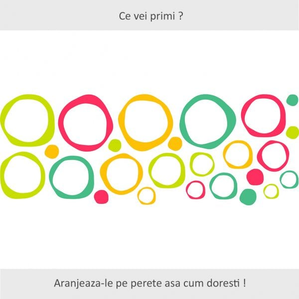 Sticker perete Abstract Circles