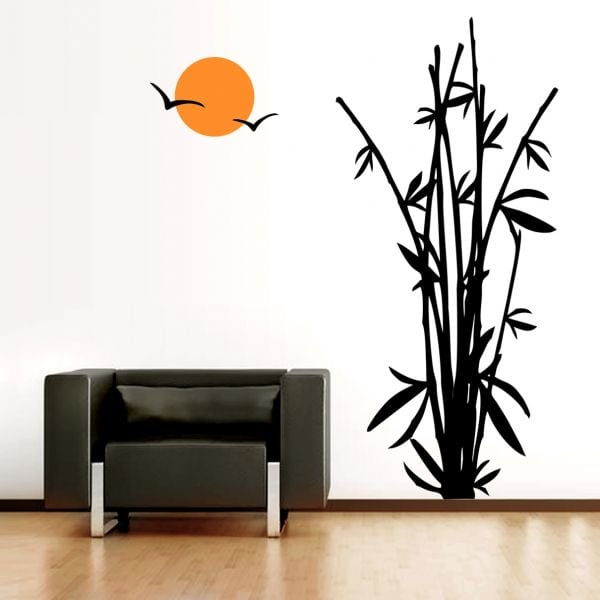 Sticker perete Bamboo in the Sunset