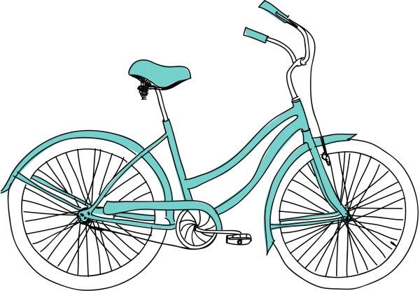Sticker perete Bicicleta retro