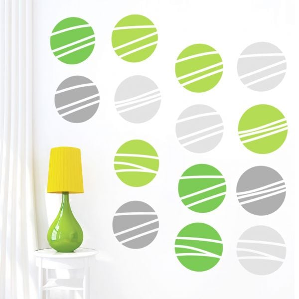 Sticker perete Green and Grey