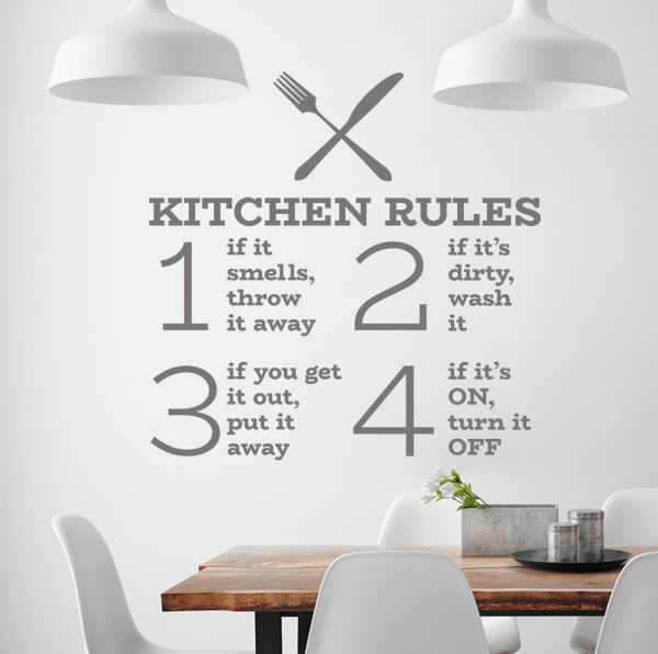 Sticker perete Kitchen Rules