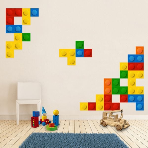 Stickere perete copii Lego Blocks