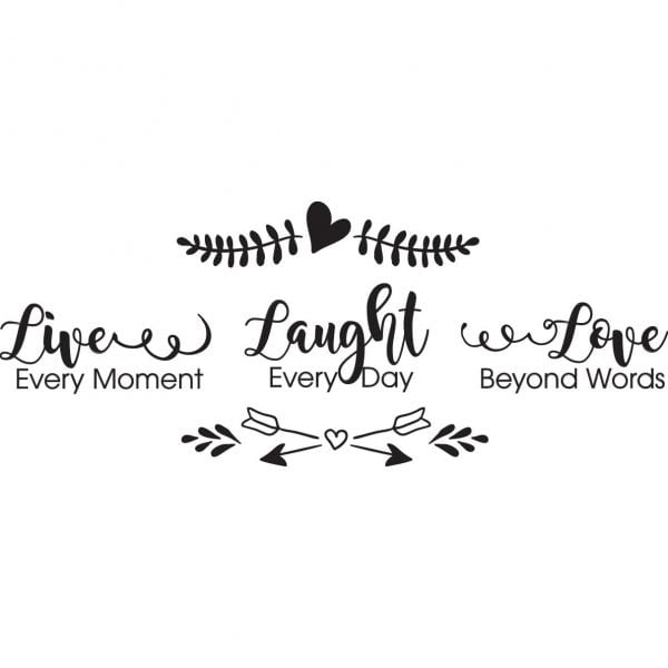 Sticker perete Live Love Laugh