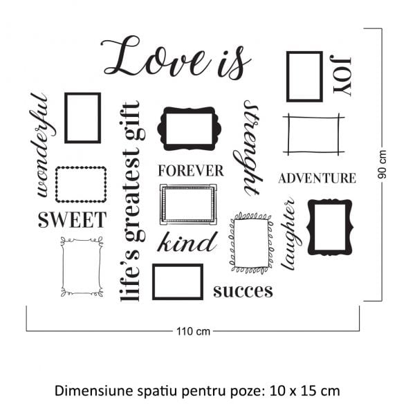 Sticker perete Love is