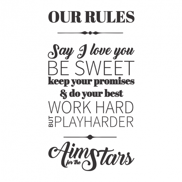 Sticker perete Our Rules 1
