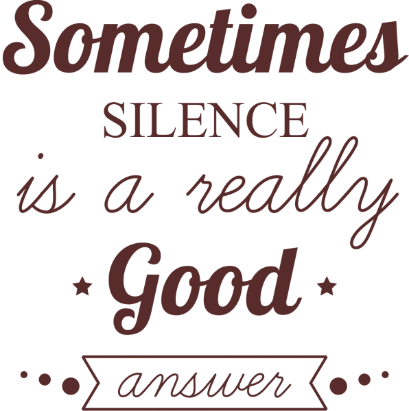 Sticker perete Silence