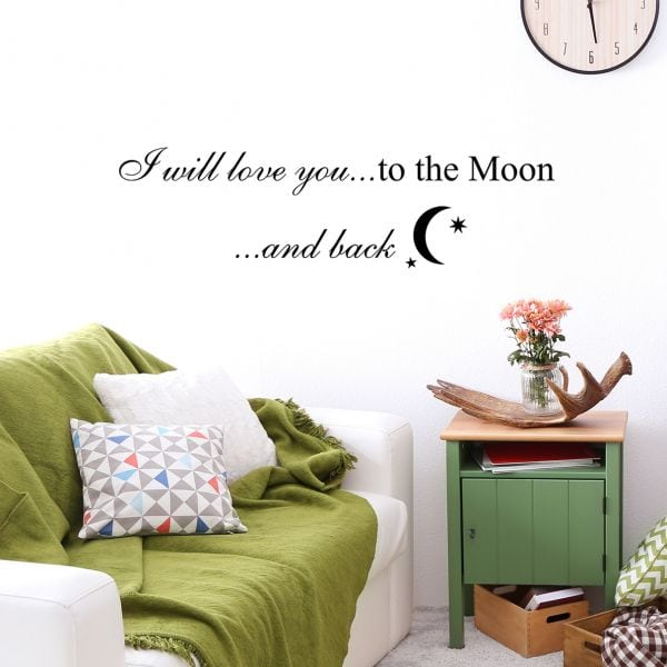Sticker perete To the moon