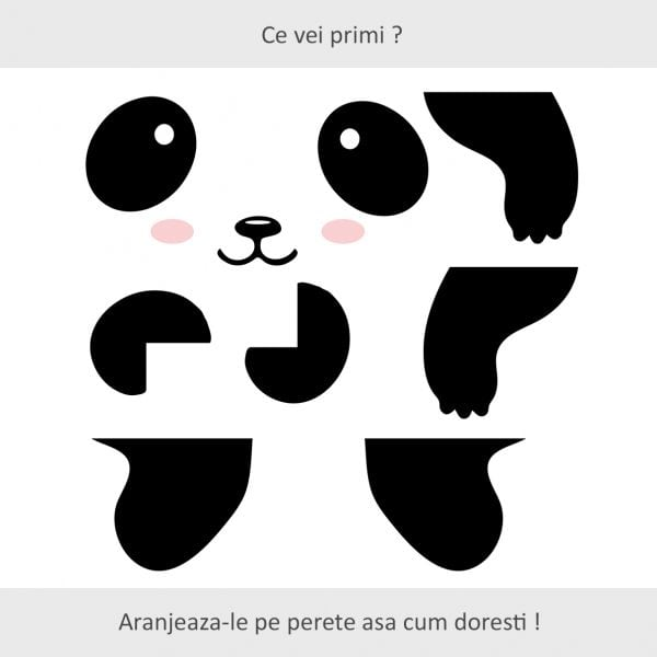 Sticker decorativ usa Ursuletul Panda