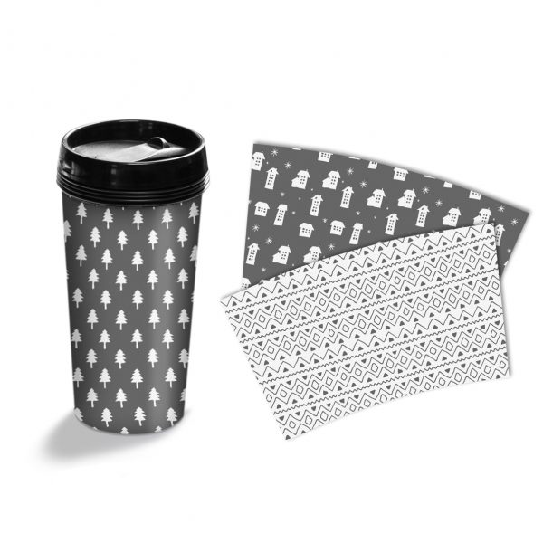 Cana termos personalizata Winter Patterns 1