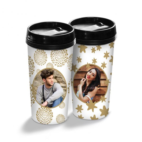Cani termos personalizate Golden Couple 1