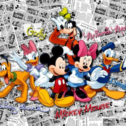 Fototapet Disney Mickey Mouse Comics