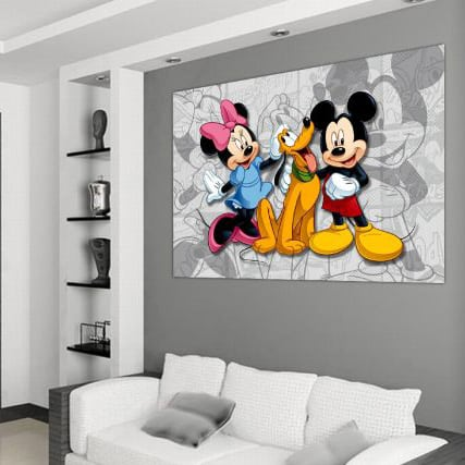 Fototapet Disney Minnie, Mickey, Pluto